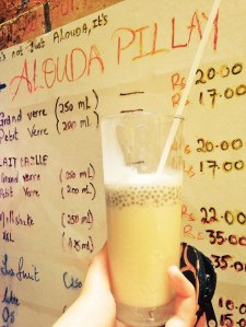 'Alouda' - A basil seed flavoured milk drink