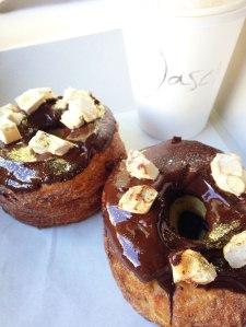 Toblerone doughssant and fresh coffee....mmmmmmm