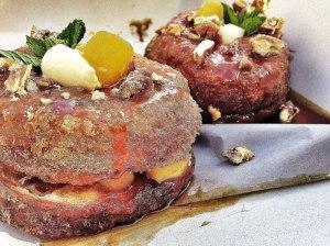 French toast, bacon, butterscotch, walnut, creme fraiche doughssant